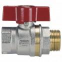 Rubinetto a sfera ottone ghiera MF leva alluminio 15x21 - EFFEBI SPA : 0825R404