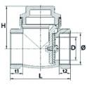 Guarnizione piatta  (X 3) - DIFF per Chappée : SX5207810