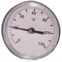 Termometro rotondo a immersione assiale 0-120°C Ø 63mm - DIFF