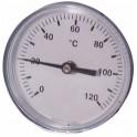 Termometro rotondo a immersione assiale 0-120°C Ø 80mm